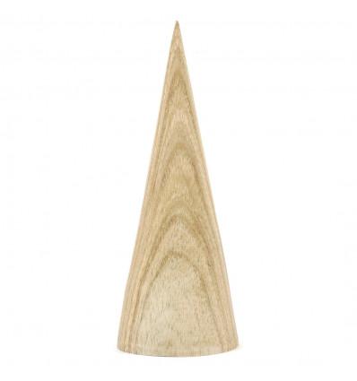 Display orecchini a forma di cono in legno massello lordo
