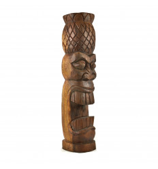Tiki Hawaïen Kiana 50cm en Bois de Suar Exotique Sculpté Main de profil