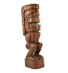 Statue Tiki Kamalo 50cm en Bois de Suar Exotique Sculpté Main