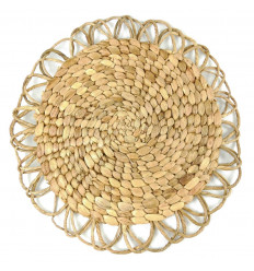 Table Set Round Bohemian in Abaca Natural and Eco-friendly 40cm