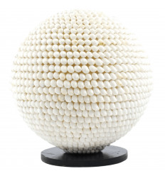 Lampada rotonda genuino guscio bianco - diametro 30cm