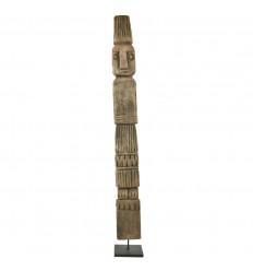 Grand Statue Timor Antique en Bois 60cm Conçu Artisanalement