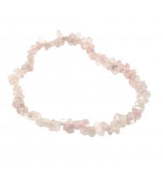 Bracelet baroque en Quartz rose - Paix et amour