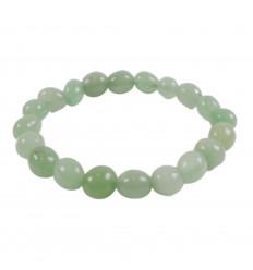 Bracelet Aventurine verte, pierres roulées ovales, 6 à 8mm qualité AAA