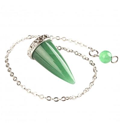 Pendolo, verde, avventurina, radiestesia novizio, energia feng shui.