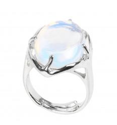Bague Floralis réglable Opale