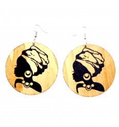 Earrings African girl - Black Queen