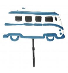 Calendario perpetuo Combi / Van vintage in legno blu