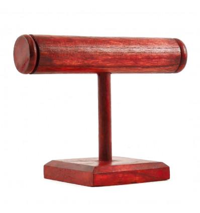 Espositore per bracciali e orologi 1 anello in legno tinto rosso