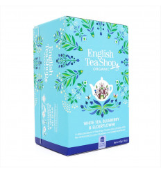 White Tea Blueberry Elderberry English Tea Shop, Certified Organic Fair Trade GMO Free
