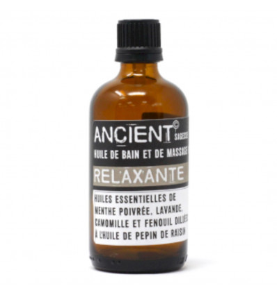 Massage Oil, Anti-Stress Bath Oil with Essential Oils