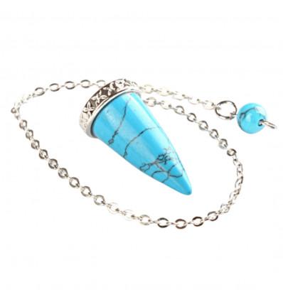 Pendulum, turquoise howlite, dowsing, stabilization energies.