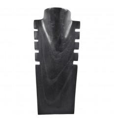 Présentoir à colliers cranté en bois noir 30cm