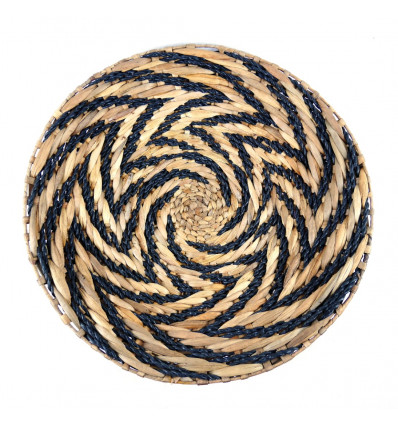 Ethnic Chic Handcrafted Wall Basket in Hand-Braided Abaca and Rope.