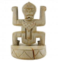 Déstockage. Totem ethnique en bois style Koh Lanta - Article déclassé