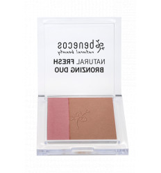 Bronzing Powder / Organic Blush Duo 8gr - Ibiza Nights shade - Benecos