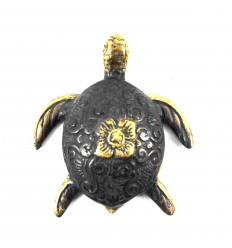 Decorative statuette Sea Turtle in bronze. Artisanal creation.