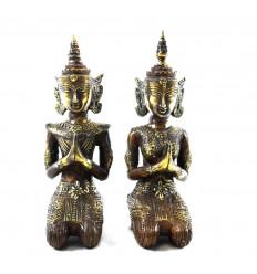 Statuette Coppia Rama e Sita in bronzo 20 cm. Divinità indù - coppia