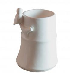 Brule diffusore di profumo di bambù uccello in ceramica bianca a buon mercato.