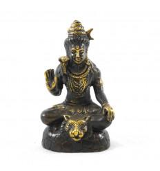 Statuetta Shiva in bronzo massiccio 13 cm. Artigianato asiatico.
