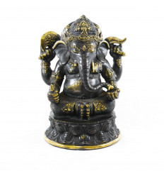 Large Statue of Ganesh in Solid Bronze 31cm Sitting in Lotus Position. Unique piece