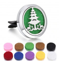 Modify: Clip-on car perfume diffuser + 10 blotters - Christmas collection - Sapin & Rennes