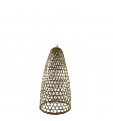 Sospensione in rattan e bambù modello Jimbaran 43cm - Creazione artigianale