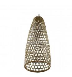 Sospensione in rattan e bambù modello Jimbaran 53cm - Creazione artigianale