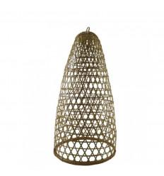 Sospensione in rattan e bambù modello Jimbaran 59cm - Creazione artigianale