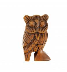 Wooden secret box - Owl shape