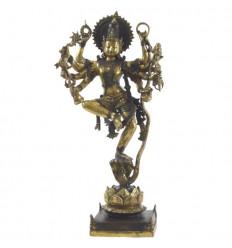 Grande Statue Shiva Nataraja en Bronze 66cm. Artisanat asiatique. Pièce Unique