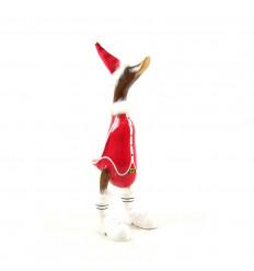 Grand canard décoratif en bois 35cm - Mère Noël