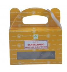 Box of 24 incense cones Backflow Santal Wood - Natural Indian Incense Satya Sai Baba
