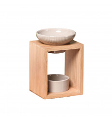 Brucia profumo elegante in bambù e ceramica Serie Naturea - Yona