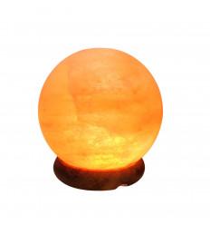 Lampada USB in cristallo di sale himalayano a forma di sfera