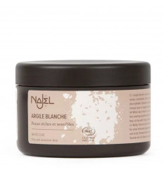 White clay or Kaolin powder, mask face and hair for dry and sensitive skin.