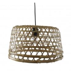 Suspension en rotin et bambou Ø40cm - Création artisanale