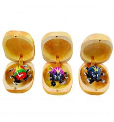 3 boites à chagrins - Scarabées mangeurs de chagrin en bois