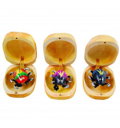 3 boxes sorrows - Beetles eating sorrow wood
