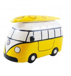 Cassetto combi van vintage in legno giallo - Fatto in casa - 3/4