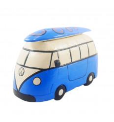 Cassetto combi van in legno blu vintage - Realizzato a mano - 3/4