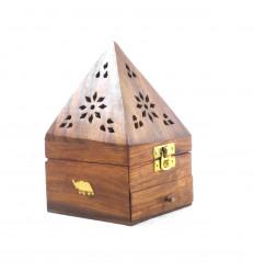 Scatola incenso per coni - porta incenso con cassetto a forma di piramide che decora Elephant - 3/4
