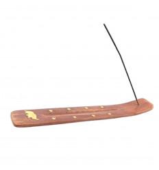 Porte-encens en bois motif elephant - pour batons