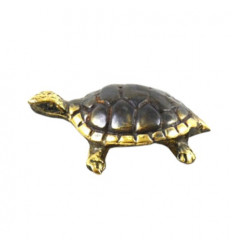 Mini Bronze Earth Turtle Statuette 4cm