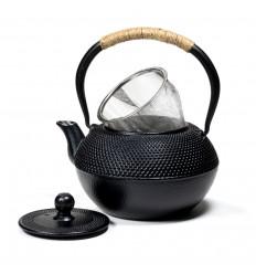 Japanese-style black cast iron teapot - 0.6L