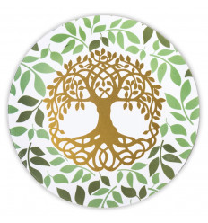 Turquoise Mandala pattern round coasters - Lot of 6