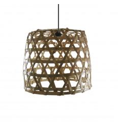 Suspension en rotin et bambou Ø40cm - Modèle Lovina Beach - Création artisanale