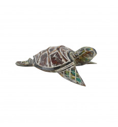 Little turtle - Hand-carved and hand-painted wood