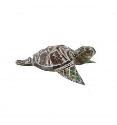 Piccola tartaruga - Legno intagliato a mano e dipinto a mano