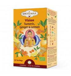 Tisane infusion bio ayurvédique gingembre citron chakra Shoti Maa.